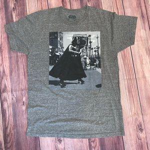 STAR WARS Darth Vader Boom Box Tee Shirt Gray SZ M